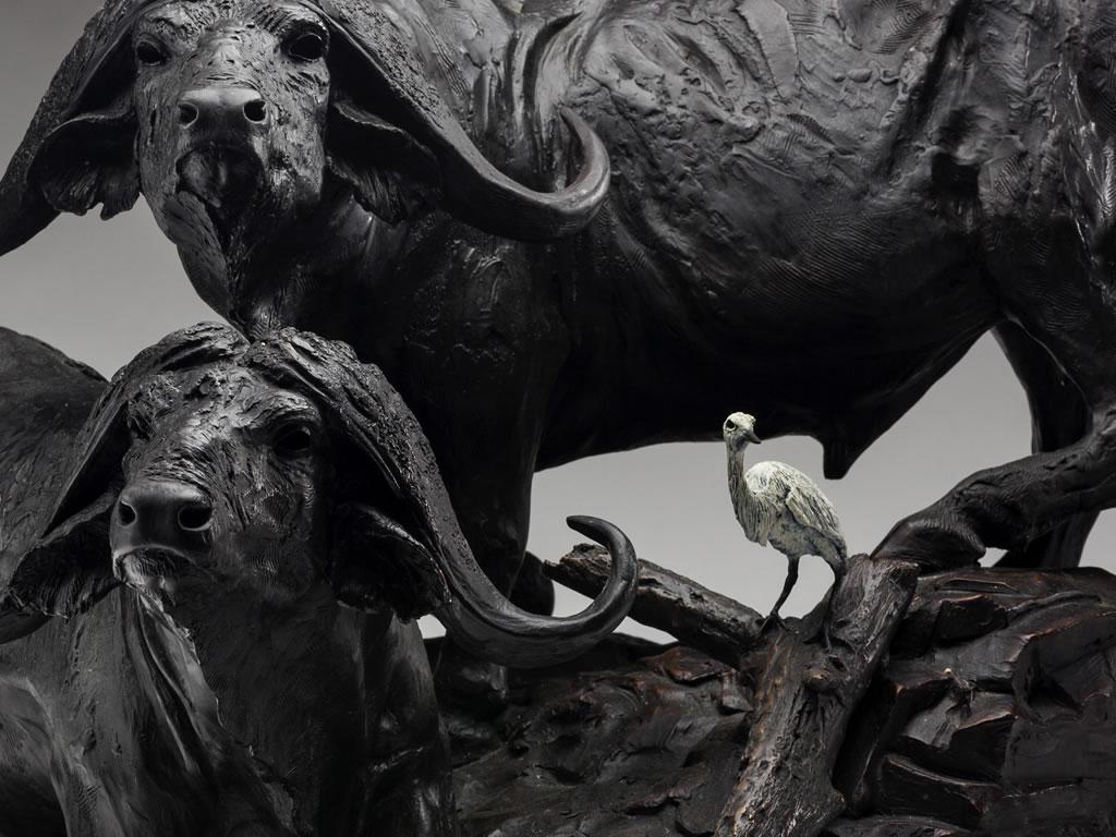 Large wildlife sculptures